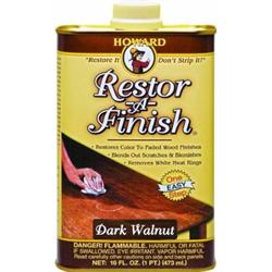 HOWARDS RESTOR-A-FINISH DARK WALNUT 16 OZ