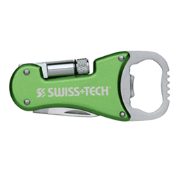 SWISS TECH BOTTLE OPENER MULTI TOOL W/LED  d