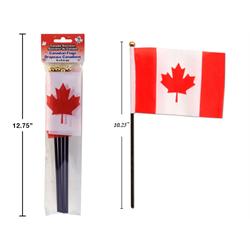 "CANADA 4PK 4""X6"" FLAGS W/10.25"" POLES"